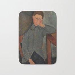 """Amedeo Modigliani """"The Boy"""" Bath Mat"""