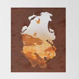Tigers Realm Throw Blanket