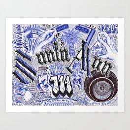 Santa Ana 714 Art Print