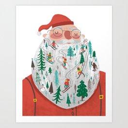 Snowy Santa Beard Art Print