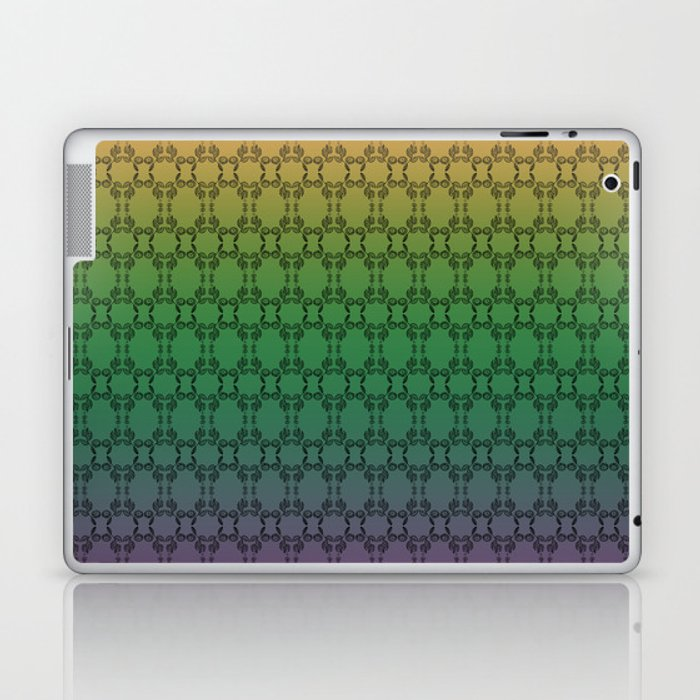 Hand drawn Seed Pods on Multicolor background Laptop & iPad Skin