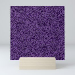 Purple Leopard Spots Pattern Mini Art Print