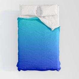 Aqua Blue Bright Ombre Comforters