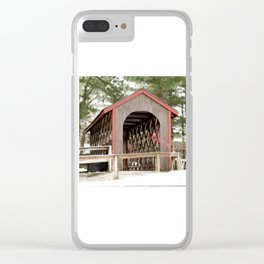 Photography Covered Bridge Clear iPhone Case