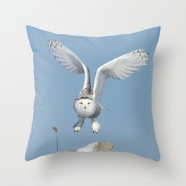 Her wings are my prayer Throw Pillow