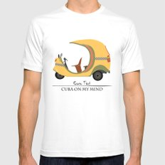 Coco Taxi - Cuba in my mind Mens Fitted Tee White LARGE