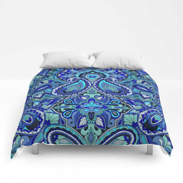 Paisley Blue Comforters