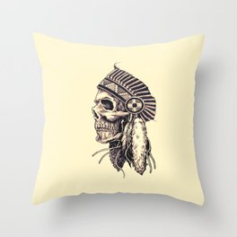 tribal chief Throw Pillow