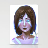 the legend of korra Stationery Cards featuring Korra  by JemyArt