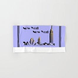 New York New York skyline retro 1930s style Hand & Bath Towel