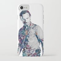 rick grimes iPhone & iPod Cases featuring Rick Grimes by NKlein Design