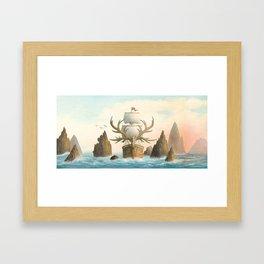 The Antlered Ship - Jacket Framed Art Print