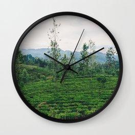 Tea Fields of Sri Lanka, View from the Ella to Kandy Train Wall Clock