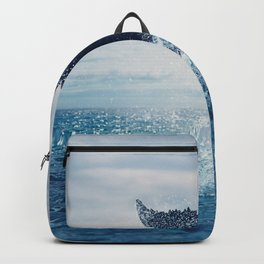 Your dance for the ocean, vast and blue Backpack