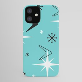 Vintage 1950s Boomerangs and Stars Turquoise iPhone Case