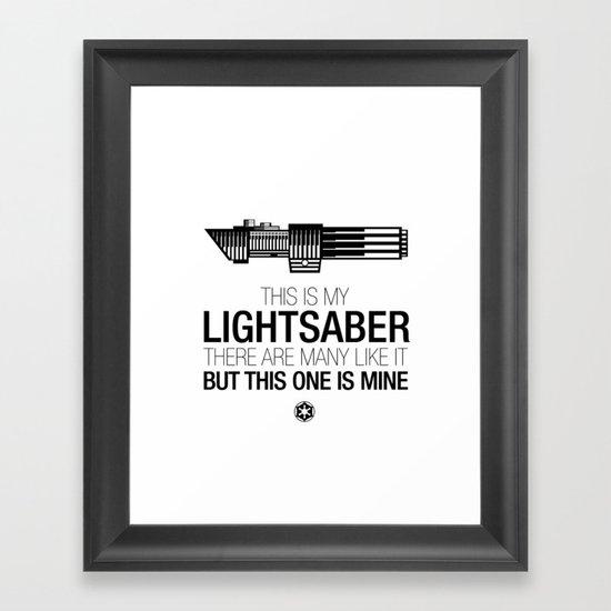 This is my Lightsaber (Vader Version) Framed Art Print
