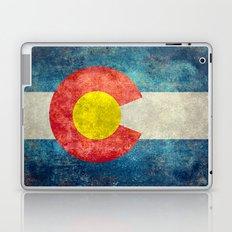 Colorado State flag - Vintage retro style Laptop & iPad Skin