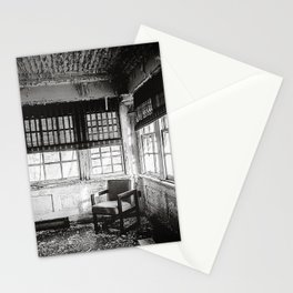 Abandoned School Lounge - Black & White Stationery Cards