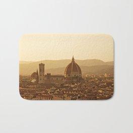 Florence skyline At Sunset Bath Mat