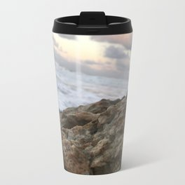 Beach Rock Metal Travel Mug