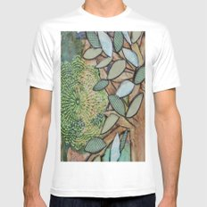 Mixed Media Mens Fitted Tee MEDIUM White