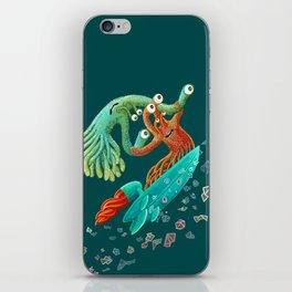 Surfing Monsters iPhone Skin