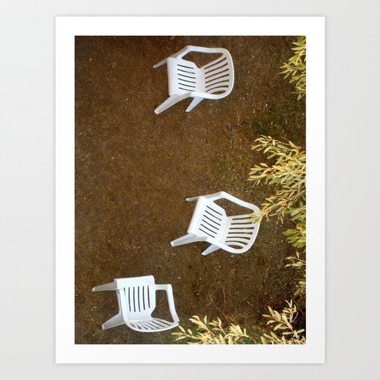 Tres sillas Art Print