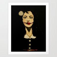 Black Dahlia Art Print