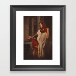Even All Her Living: The Widow's Mite Framed Art Print