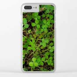 More Clovers! Clear iPhone Case