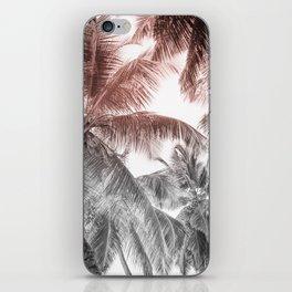 High palms on a tropical beach iPhone Skin