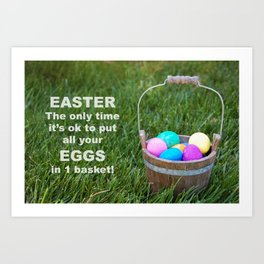 Easter Egg basket Art Print