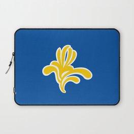 brussels city flag belgium country symbol Laptop Sleeve