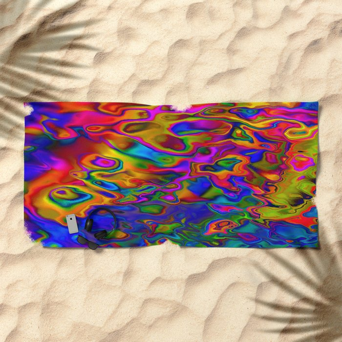 Chromatic Convections Beach Towel
