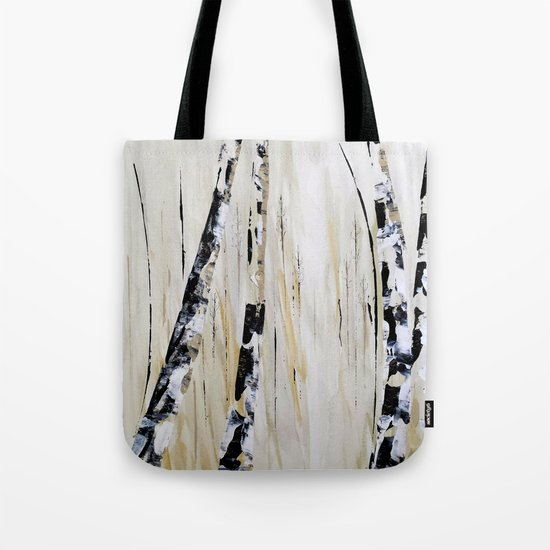 Birch Trees Tote Bag