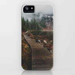 Foggy Lake 22, Washington iPhone Case
