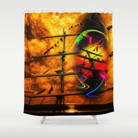 sail Shower Curtains featuring Under sail  by Walter Zettl