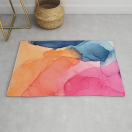 Tropical Bliss - Alcohol Ink Painting Rug