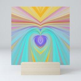 Only love will save this world, romantic rainbow print Mini Art Print