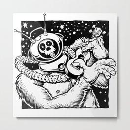 Robot Monster on Ukulele Metal Print