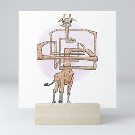 aMAZED giraffe Mini Art Print