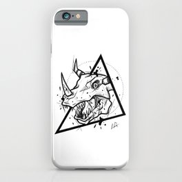 Greymon Handmade Drawing, Made in pencil and ink, Tattoo Sketch, Tattoo Flash, Blackwork iPhone Case