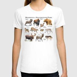 Mammals of Yellowstone Park T-shirt