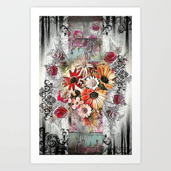 Victorian Flower Design Art Print