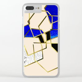 LOOKING AT THE SEA AND MY LOVE. WALKING IN PURSUIT OF PEACE. Clear iPhone Case