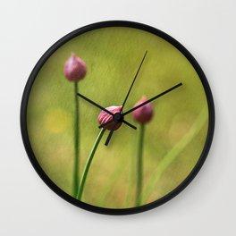 Chives Wall Clock