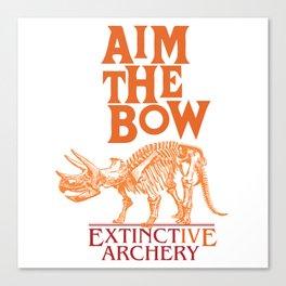 "AIM THE BOW - EXTINCT""IVE"" ARCHERY / 70s RETRO Canvas Print"
