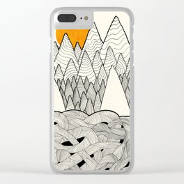 The forest over the tangled waves Clear iPhone Case