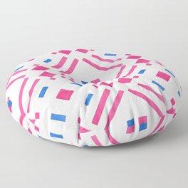 Modern hand painted geometrical pink blue watercolor Floor Pillow