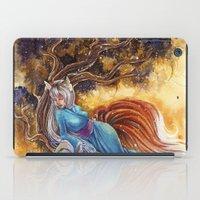 kitsune iPad Cases featuring Kitsune by Nemeth Alina